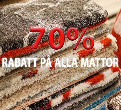 70% REA PÅ MATTOR